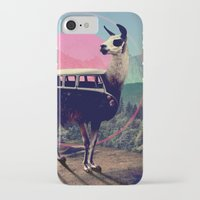 vw bus iPhone & iPod Cases featuring Llama by Ali GULEC