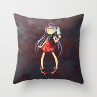 popsicle Throw Pillows featuring Popsicle by Freeminds