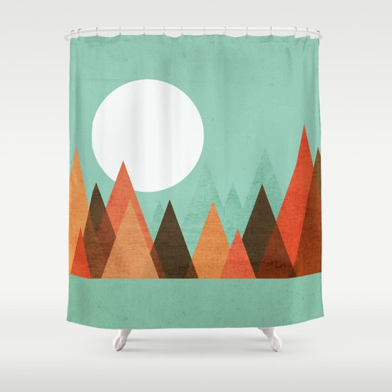 From the edge of the mountains Shower Curtain