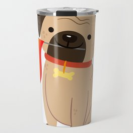 LGBT Gay Pride Flag Pug - Pride Gay Travel Mug