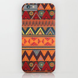 Tribal Ethnic (earth colors) iPhone Case