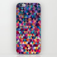 triangles iPhone & iPod Skins featuring Triangles by Ornaart