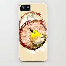 Spring birdy / Nr. 1 iPhone Case