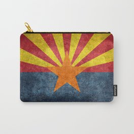 Flag of Arizona, Vintage Retro Style Carry-All Pouch