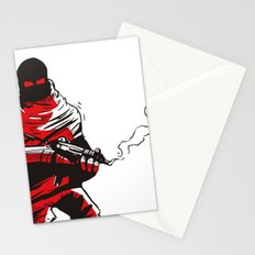 Death wears a track suit Stationery Cards