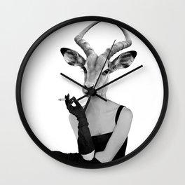 Miss Impala takes a moment Wall Clock