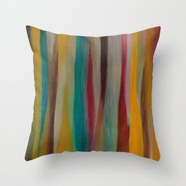 Colorful Acrylic Painting Paths Throw Pillow