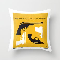 No087 My Taxi Driver minimal movie poster Throw Pillow