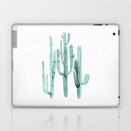 Cactus Trio Turquoise by Nature Magick Laptop & iPad Skin