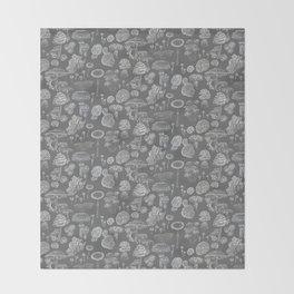 Mycology Grey Throw Blanket