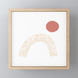 Red Sun Framed Mini Art Print