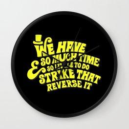 Strike That... Reverse It Wall Clock