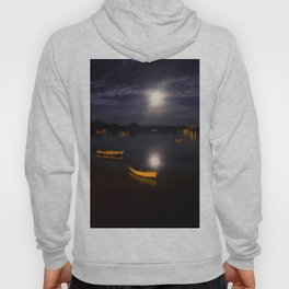 Full moon on Biscay Bay Hoody