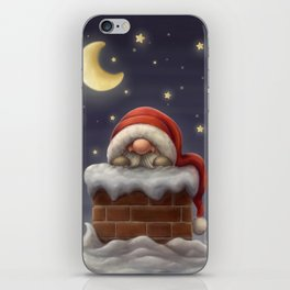 Little Santa in a chimney iPhone Skin