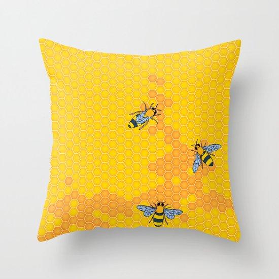 HoneyBees 1 Throw Pillow