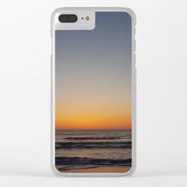 SUNSET ON THE SEA_PRIMERA FRONTERA DE MÉXICO Clear iPhone Case