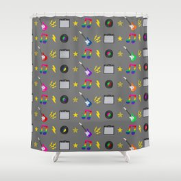 Punk Rock Rainbows Shower Curtain