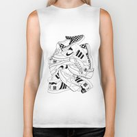 sneakers Biker Tanks featuring Sneakers Illustration by SoulWon Cheung