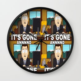 Beefcake Gone South Wall Clock