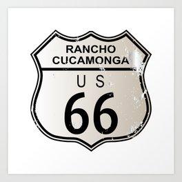 Rancho Cucamonga Route 66 Art Print