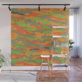 Orange camo eyes by ilya konyukhov (c) Wall Mural
