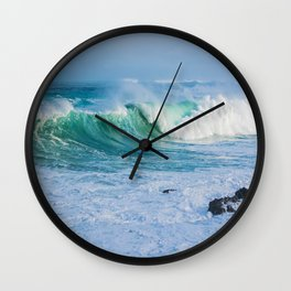 Breaking Waves Wall Clock
