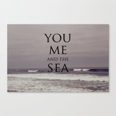 You, Me, and the Sea Canvas Print