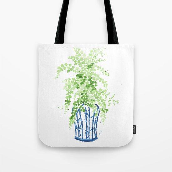 Ginger Jar + Maidenhair Fern Tote Bag