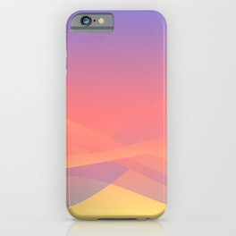 Pastel Gradient Ombre Pink, Purple, Yellow Whimsical Wavy Lines iPhone Case