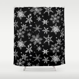 Snow Flakes 07 Shower Curtain