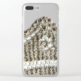 Knitted edging detail Clear iPhone Case