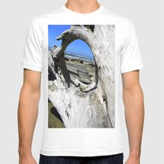 Window to the Sea White Mens Fitted Tee MEDIUM