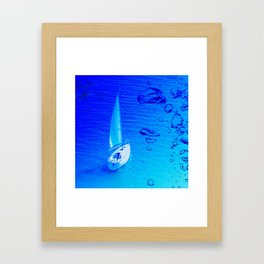 Boat and bubbles Framed Art Print