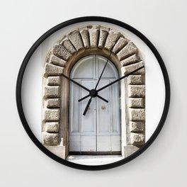 Doors of Rome, Blue dream Wall Clock