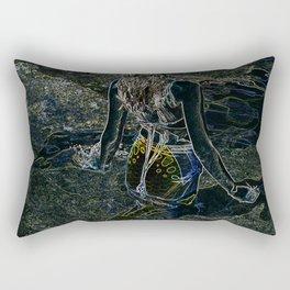 NEON MERMAID Rectangular Pillow