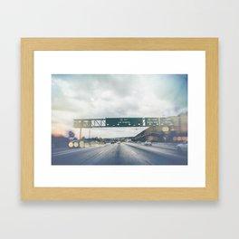 California, Los Angeles, beach, seaside, ocean, surf, downtown, Cali, SoCal Framed Art Print