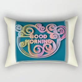 Good Morning Coffee Art Rectangular Pillow