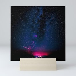 Electric Desert Starry Night Mini Art Print