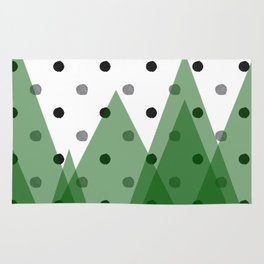 Christmas mountains Rug