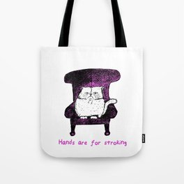 Hands are for Stroking (Pink) Tote Bag