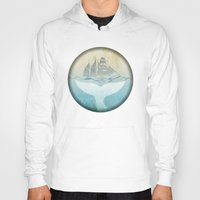 moby dick Hoodies featuring Moby by Vin Zzep