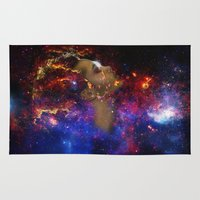 astronomy Area & Throw Rugs featuring SXC Astronomy P1 by Skankotron