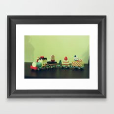 Train to Childhood Framed Art Print