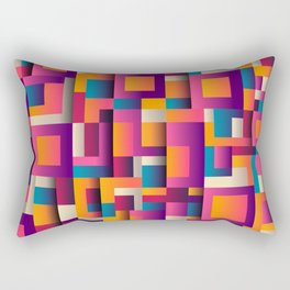 Abstract Geometric Shapes Bold Colors Rectangular Pillow