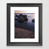 Bonsai Rocks Framed Art Print