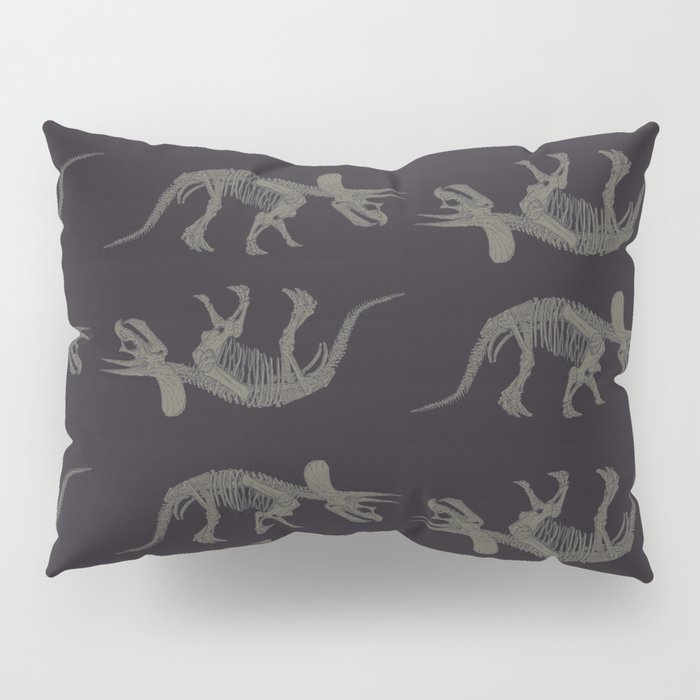 Triceratops Skeleton Pillow Sham