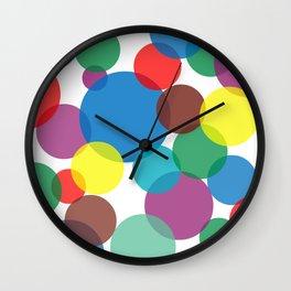 Colorful circles and bubbles Wall Clock
