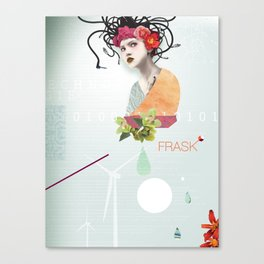 FRASK techno Canvas Print