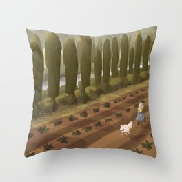 Mu's Farm Throw Pillow