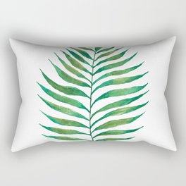 Palm Frond Watercolor Painting Rectangular Pillow